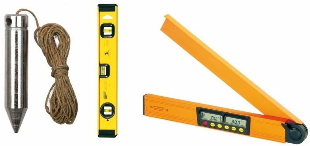 Измерительные приборы: вид штукатурных инструментов